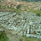 The slums of Kibera, Africa